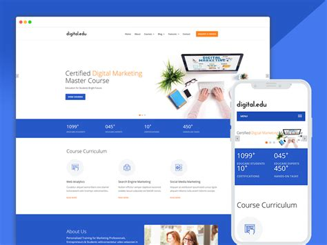 digital marketing websites best bootstrap responsive web design templates 40