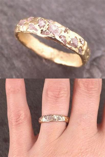 Diamond Raw Rough Ring Uncut Band Kind