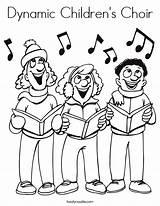 Choir Coloring Dynamic Children Built California Usa sketch template