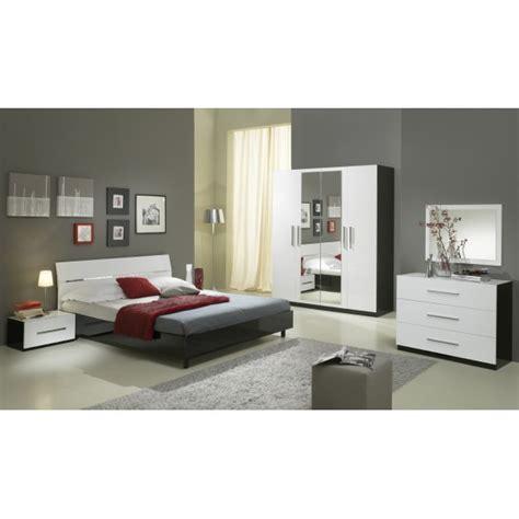 chambre a coucher en noir et blanc chambre à coucher quot gloria quot complet en noir et blanc laqué