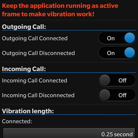 call vibration app to vibrate your phone when call