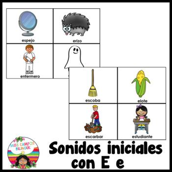letra e las vocales flashcards for the letter e by miss cos