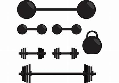 Gym Weights Silhouette Vector Clipart Fitness Vectors