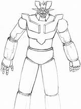 Mazinger Drowing sketch template