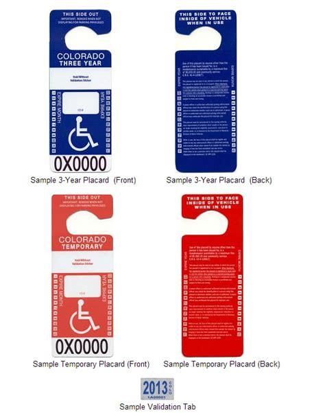 persons  disabilities handicap placards douglas
