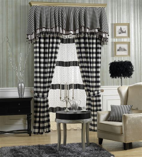 black and white checkered valance black and white check curtain fabric curtain menzilperde