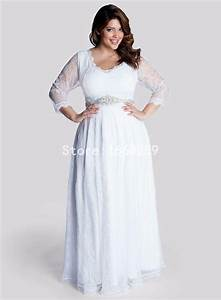 2015 plus size bridesmaid dresses with 3 4 sleeves v neck With 3 4 sleeve wedding dress plus size