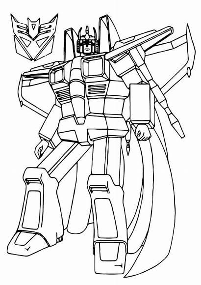 Mewarnai Transformers Gambar Robot Coloring Scream Transformer