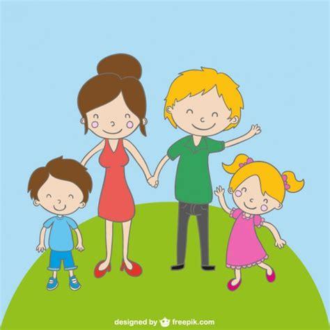 family cartoon drawing vector