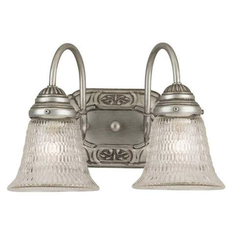 westinghouse 64620 2 light pewter wall light
