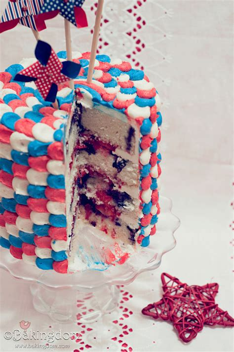 patriotic summer berry cake
