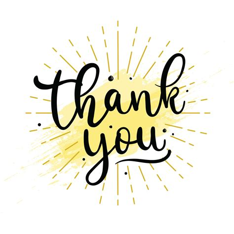 Thank You Lettering Typography  Download Free Vector Art