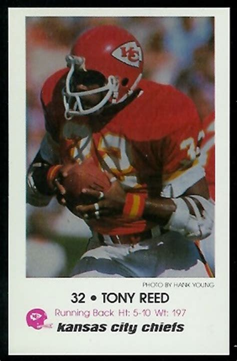 Tony Reed - 1979 Chiefs Police #7 - Vintage Football Card ...