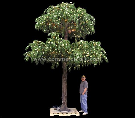 azalea flowering tree with lights exterior commercial