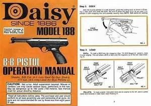 Daisy Model 188 Air Pistol C1985 Manual