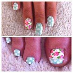 shabby chic nails shabby chic roses polka dot nails