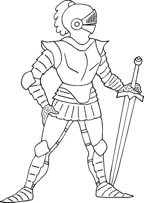 wonderful knight coloring pages  kids