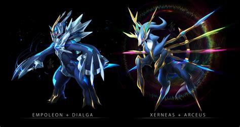 Dialga=empoleon , Arceus+xerneas Pokemon Fusions