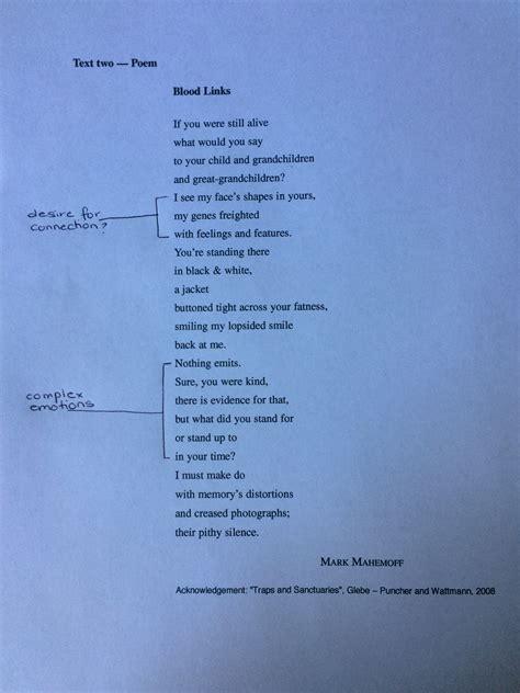 analyse poems  hsc english