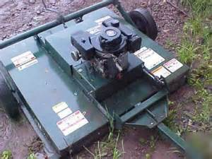lawn mower pull behind deck 48 quot fuerst fr48 8hp briggs