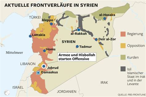 syrien karte frontverlauf