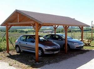 Carport 2 Voitures Bois : carport 2 voitures en bois kalkutta habrita garage ~ Dailycaller-alerts.com Idées de Décoration