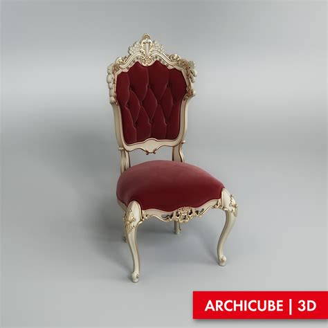 classic chair 3d model max obj fbx cgtrader