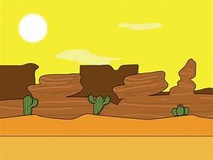 Cartoon Desert Background   GSHelper.com
