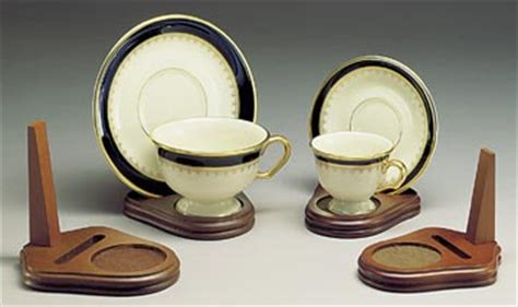 cup  saucer holders wood teacup  plate stand set   tea cup  saucer stands
