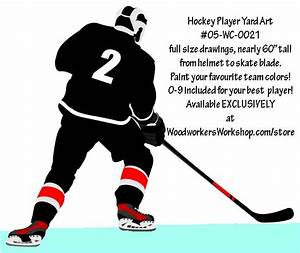 Hockey Player Right Hand Full Size Woodworking Pattern