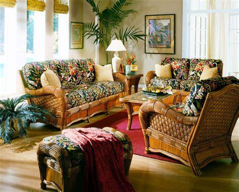 sunroom sofa sets kingston reef indoor wicker 5 pc living room set from
