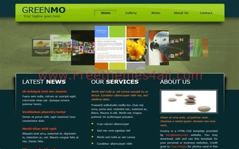 jquery template html jquery green nature gallery website template