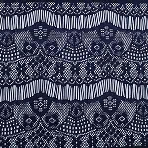 navy vibrant eyelash floral lace fabric pattern