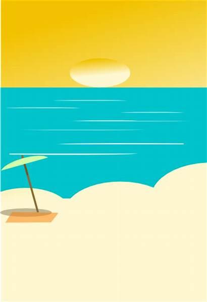 Beach Background Clip Backgrounds Clker Domain Clipart