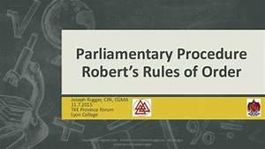 2015 Tke Province Forum  U2013 Robert U2019s Rules Of Order
