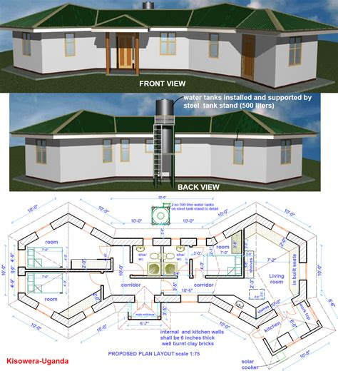 house construction plans earthbag construction in uganda