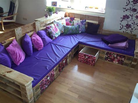 diy pallet sofa  storage home design garden