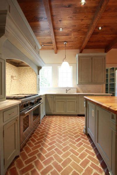 brick flooring  perfect transitional element