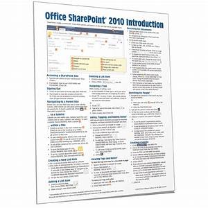 Sharepoint 2010 Quick Reference  Cheat Sheet  Guide Card