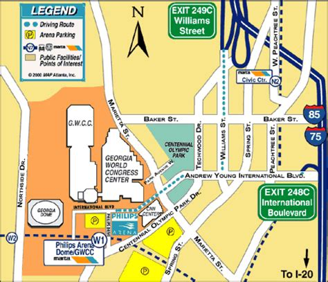 Directions To Nittany Parking Deck by Alf Img Showing Gt Philips Arena Parking Map