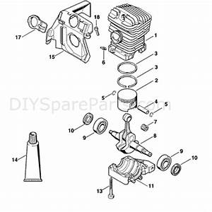 Stihl Ms 290 Chainsaw  Ms290  Parts Diagram  Cylinder Ms