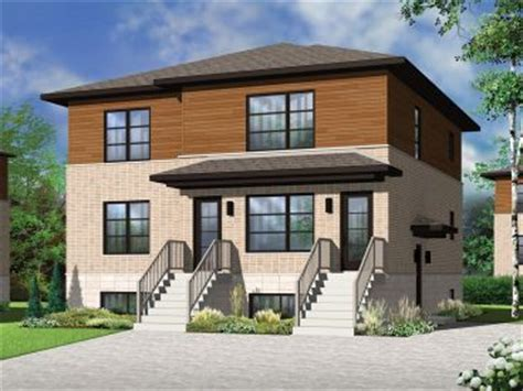 multi family house plans triplexes townhouses