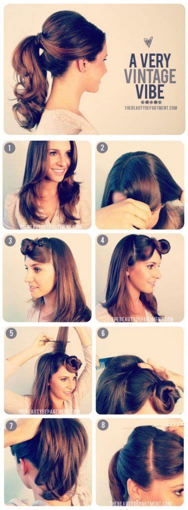 1950s Hairstyle Tutorial by 14 Glamorous Retro Hairstyle Tutorials Pretty Designs