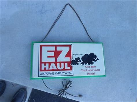 Vintage Ez Haul National Car Rental Double Sided Lighted Sign