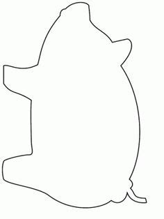 Pig Template For Preschoolers by Bird Cutouts Printable Free Printable Coloring Page Pig