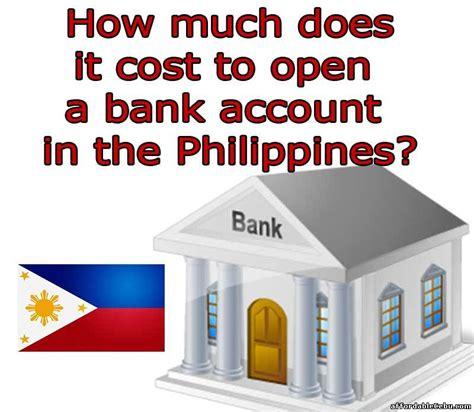 cost initial deposit  open  bank