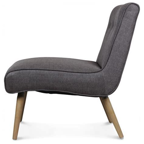 fauteuil design scandinave tissu gris pieds bois igor
