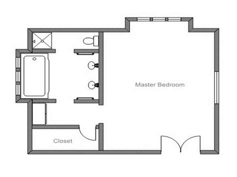 Small Master Bedroom Floor Plans by Simple Master Bath Ideas Layout House Remodel In 2019