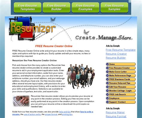 Resumizer Resume Creator Htm by Hi From Tashkent Resumizer Free Resume Creator