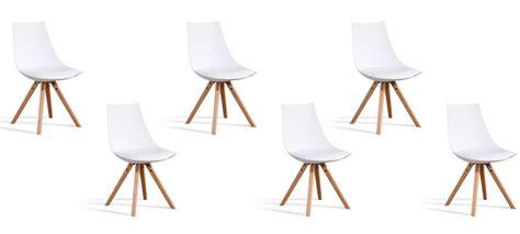 lot 6 chaises blanches 6 chaises au prix de 3 offre imbattable